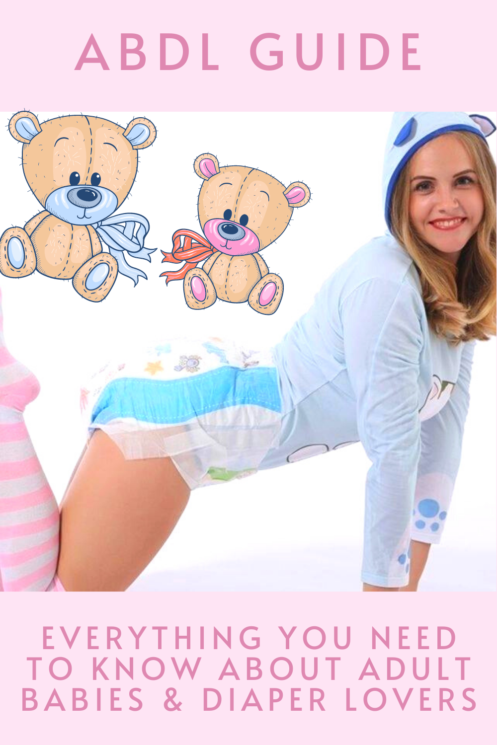 What is ABDL? ABDL is an acronym that stands for 'adult baby' and 'diaper lover' and describes a community of people in the wider kink community. An adult baby is an adult who chooses to return mentally to a childlike state, either for fun or eroticism. In scientific terms, this is called 'paraphilic infantilism.' It describes a kind of 'age-play,' which is a specific form of fantasy role play where a partner embodies a person of a different age than their actual chronological age.